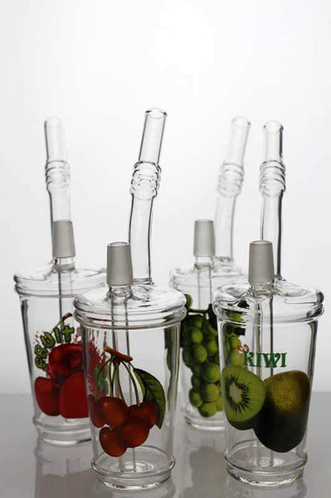 "8"" 2-in-1 Juice slush cup oil rig - bongoutlet.com"