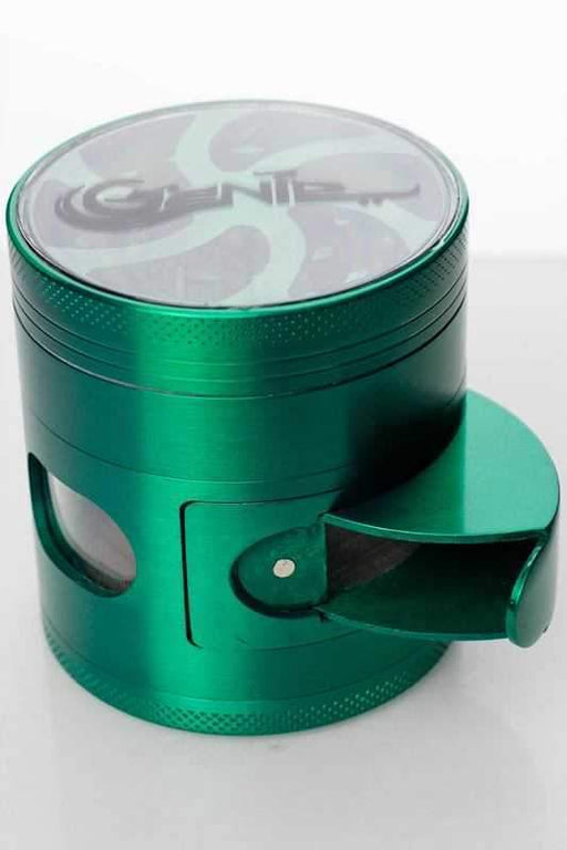 4 Parts aluminium grinder with side door - bongoutlet.com