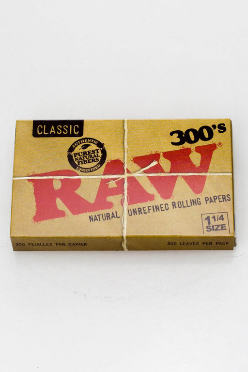 RAW 300's. Natural Unrefined (2 Packs) - bongoutlet.com