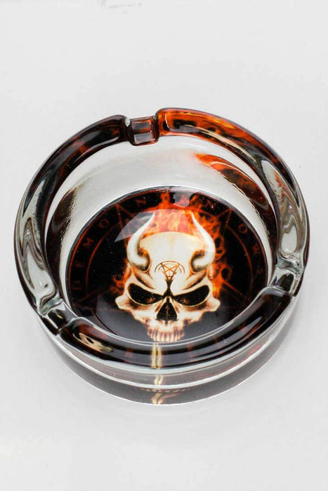Round glass ashtray - bongoutlet.com