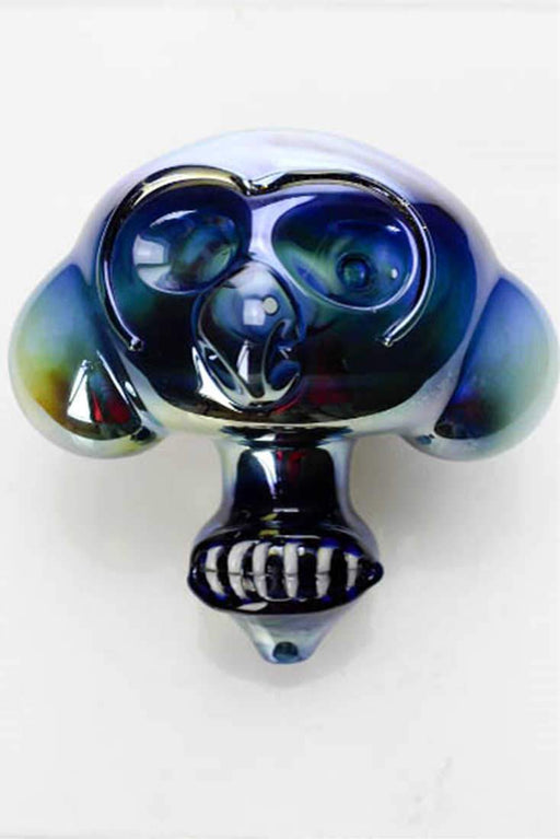 Metallic color Monkey glass pipe - bongoutlet.com
