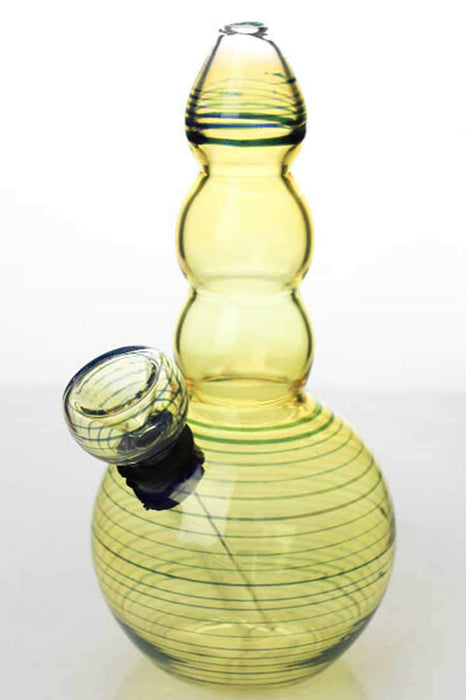 6 inches changing color glass water bong - bongoutlet.com