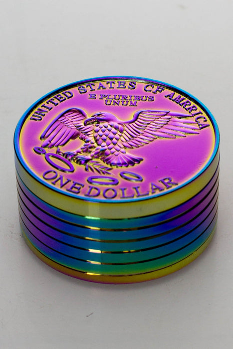 US One dollar coin shape metal grinder - bongoutlet.com