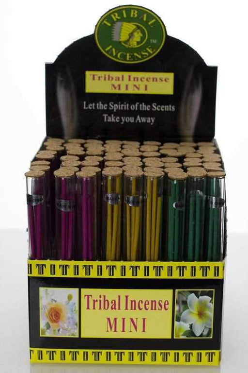 Mini tribal incense glass tube - bongoutlet.com
