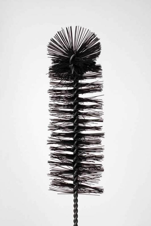 16 in. Nylon tube black brush - bongoutlet.com