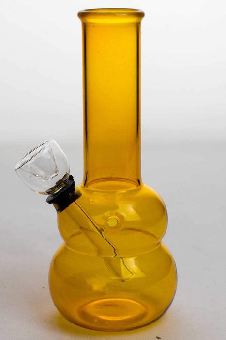 "6"" yellow glass water bong - bongoutlet.com"