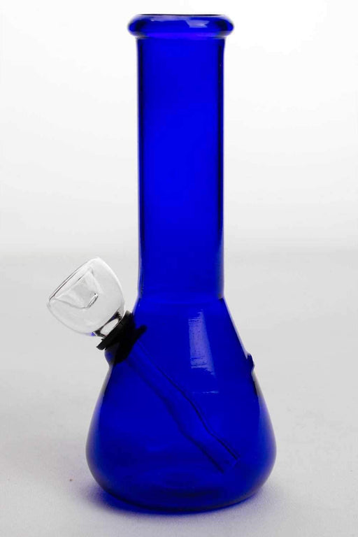 "6"" blue glass small water bong - bongoutlet.com"