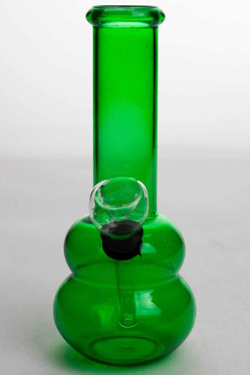 "6"" green glass small water bong - bongoutlet.com"