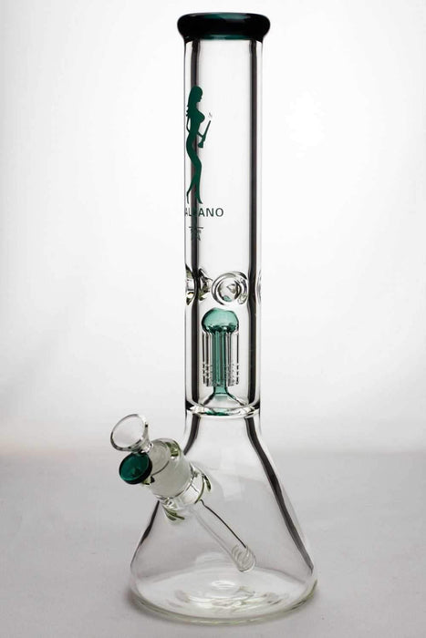 "16"" valcano 6 arms percolator 9 mm thick glass water bong - bongoutlet.com"