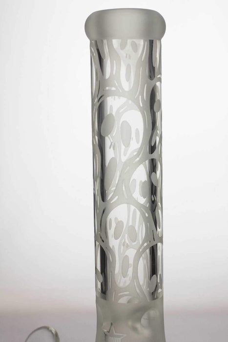 13.5 inches 9 mm thick sandblasted glass beaker water bong - bongoutlet.com