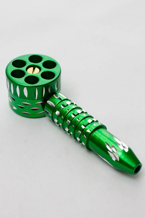 "4.5"" multiple chambers revolving metal pipe - bongoutlet.com"