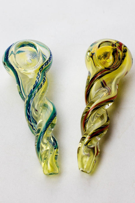 "4.5"" soft glass 4075 hand pipe - bongoutlet.com"