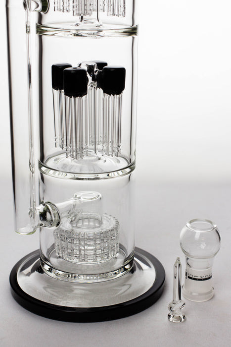 "18"" Infyniti fractal tree arms percolator and barrel diffuser oil rig - bongoutlet.com"
