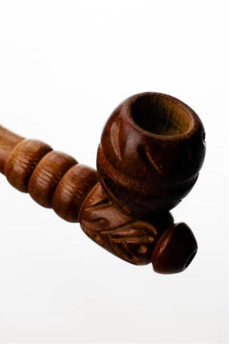 Beautiful pattern carved wooden pipe - bongoutlet.com