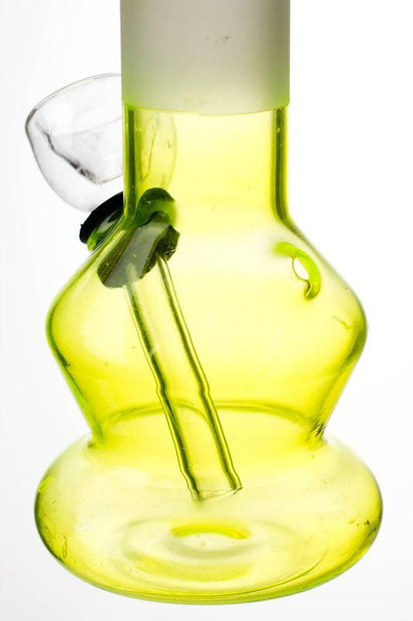 "6"" Two tone color Lime glass water bong - bongoutlet.com"