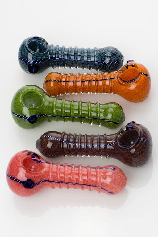 "4.5"" Soft glass 4308 hand pipe - bongoutlet.com"