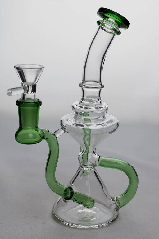 8 in.  three-hole diffuser recycler bong - bongoutlet.com