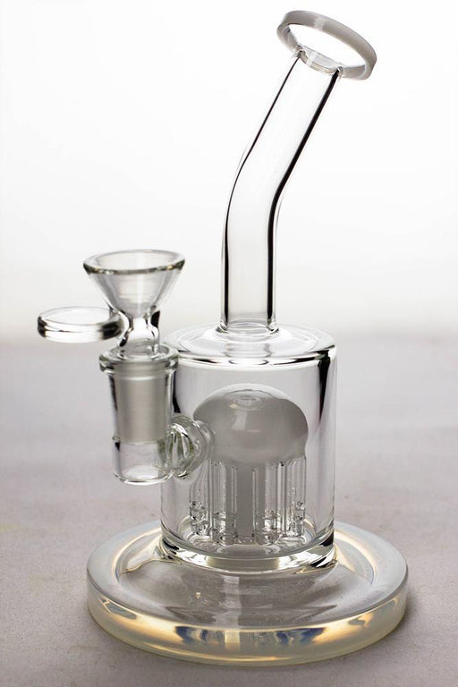 "7"" bent neck bubbler with 8-arm diffuser - bongoutlet.com"