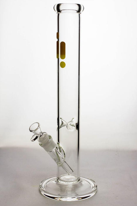 16 in. infyniti glass clear tube glass water bong - bongoutlet.com