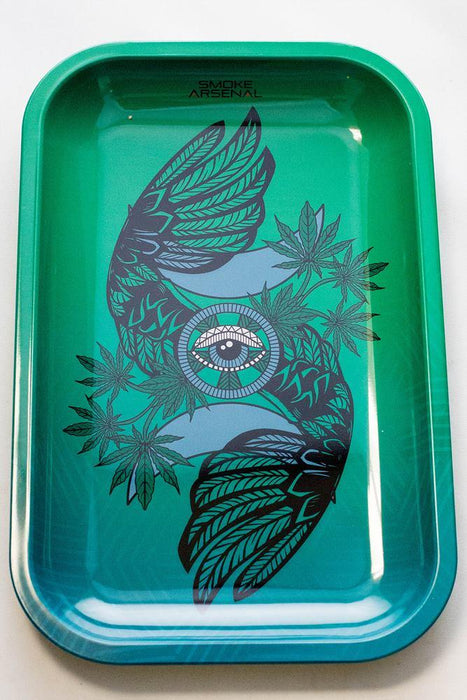 Smoke Arsenal Rolling Medium Tray - bongoutlet.com