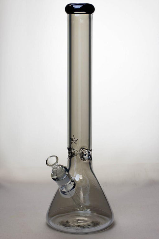 17 in. Genie Metalic 7 mm glass beaker bong - bongoutlet.com