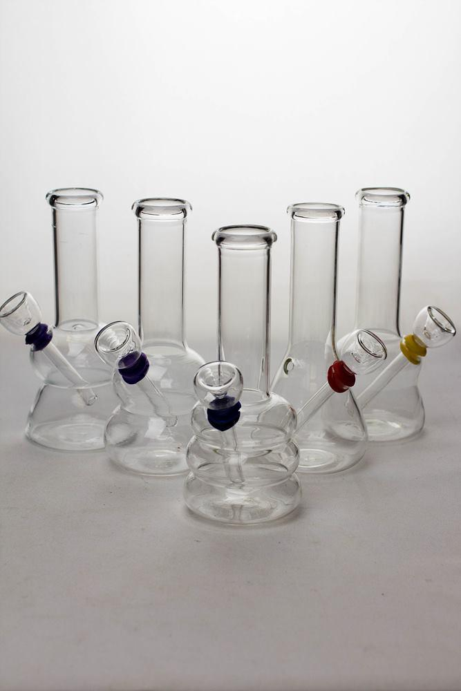 6 in. clear glass water bong - bongoutlet.com