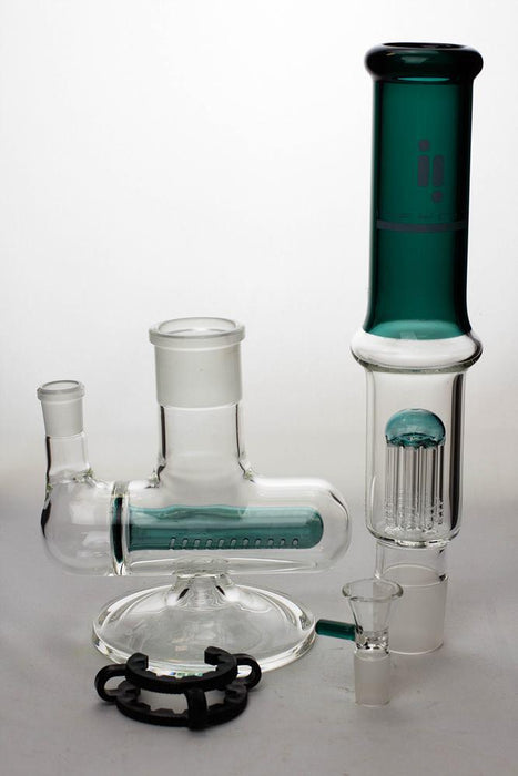 "17"" infyniti 8-tree and inline diffuser detachable water bong - bongoutlet.com"