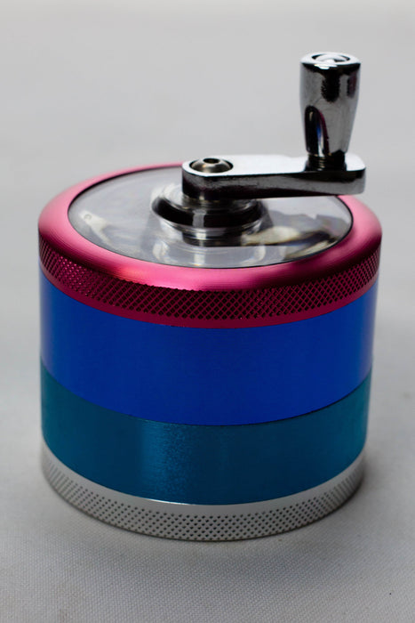 4 parts color herb grinder with handle - bongoutlet.com
