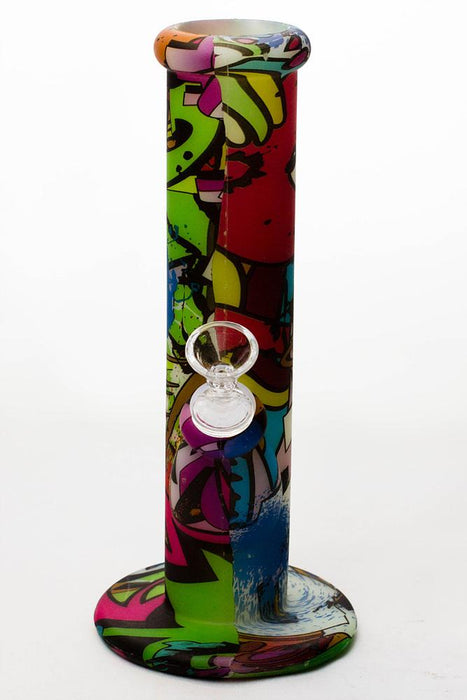 "10"" Glow in the dark silicone tube water bong - bongoutlet.com"