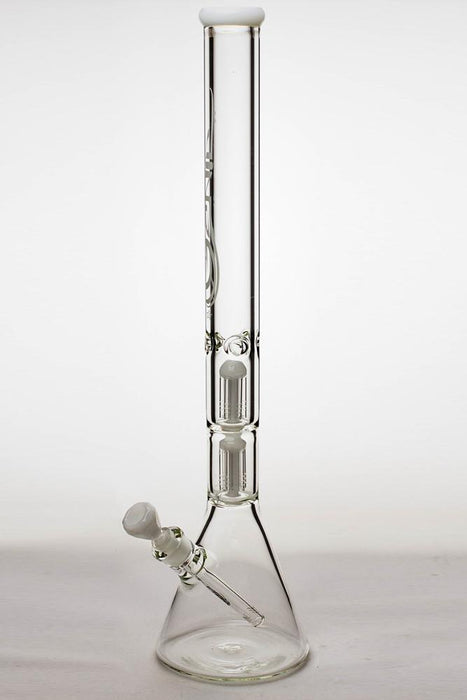 "24"" genie double 6 arms heavy glass water beaker bong - bongoutlet.com"