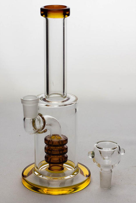 "8"" triple stacked shower head diffuser bong - bongoutlet.com"