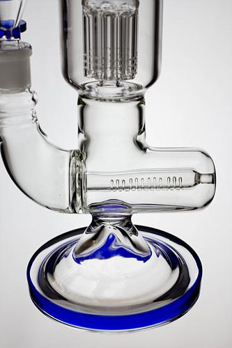 14 inches 8 arms percolator and inline diffused water bong - bongoutlet.com