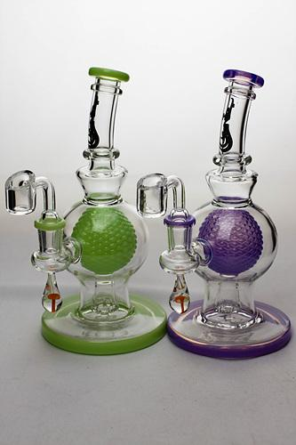 8 in. genie Sphere in a Sphere bubbler - bongoutlet.com
