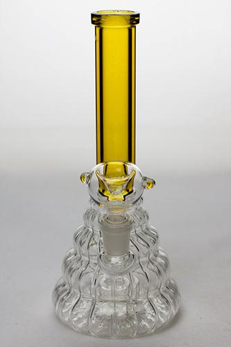 "7"" pattern glass bubbler with a diffuser - bongoutlet.com"