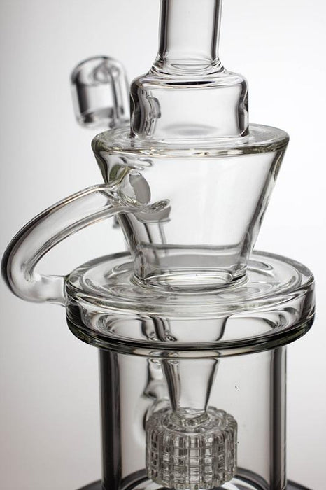 "10"" Barrel-diffuser recycled rig with a banger - bongoutlet.com"
