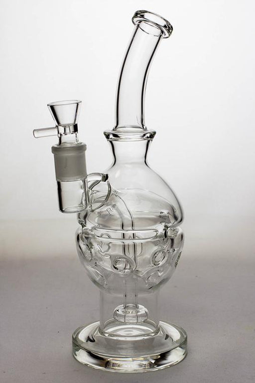 "11"" Egg recycle rig with shower head diffuser - bongoutlet.com"