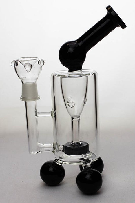"10"" 3-ball stands recycled bubbler - bongoutlet.com"