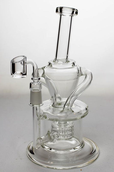 "10"" Barrel-diffuser double tube recycled rig - bongoutlet.com"