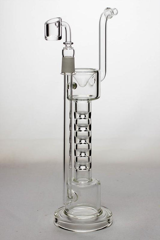 12 in. 5-stage skinny tube rig with a banger - bongoutlet.com