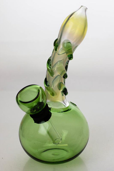 "5.5"" changing color glass water bong - bongoutlet.com"