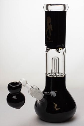 "11"" Volcano glass water bong with dome percolator - bongoutlet.com"