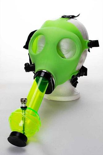 Silicone Glow in the dark Gas Mask bong
