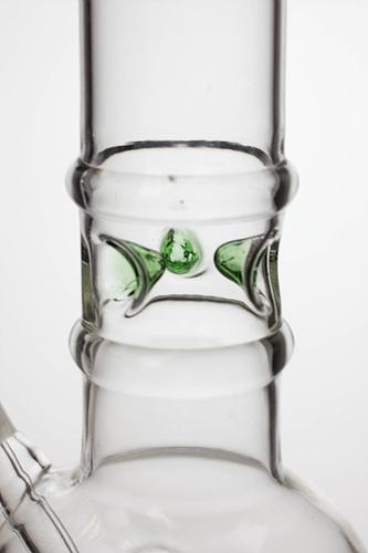 "10"" round base glass water pipe-Leaf - bongoutlet.com"