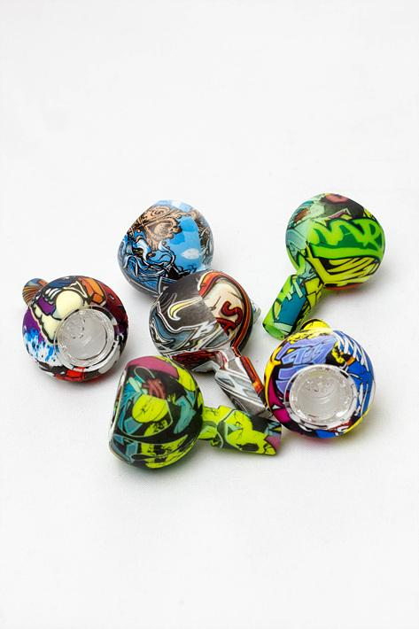 Silicone bowl with multi-hole glass bowl - bongoutlet.com