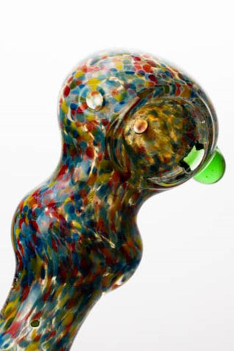 "4"" soft glass 5206 hand pipe - bongoutlet.com"