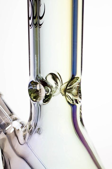 "Genie 14"" Metallic 9 mm glass beaker bong - bongoutlet.com"