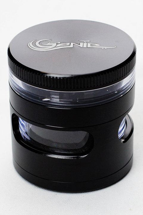 4 parts Genie side window large aluminium grinder - bongoutlet.com