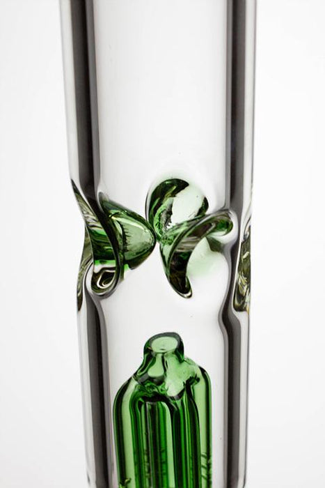 "17.5"" Infyniti 7 mm thickness single 4-arm glass water bong - bongoutlet.com"