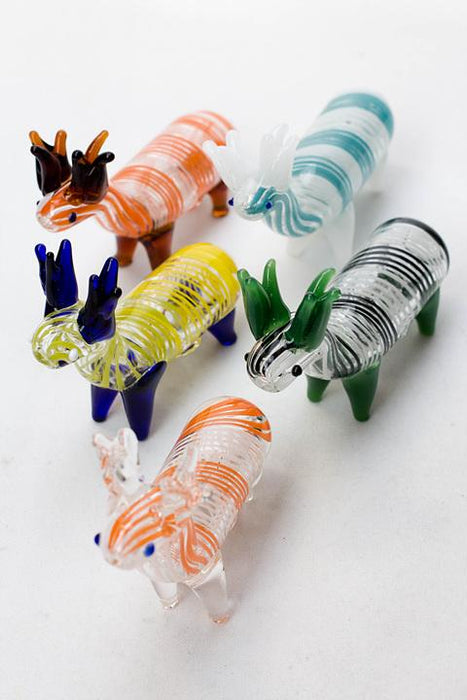 Standing Deer Large glass hand pipe - bongoutlet.com