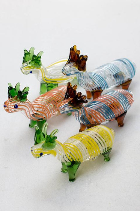 Standing Deer Small glass hand pipe - bongoutlet.com